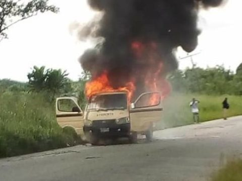 Many Students Escaped Death As UNICAL Campus Bus Catches Fire