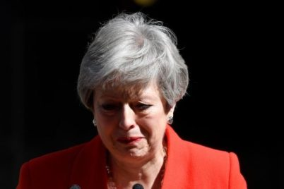 Theresa May Resigns As UK Prime Minister, As She Weeps Bitterly