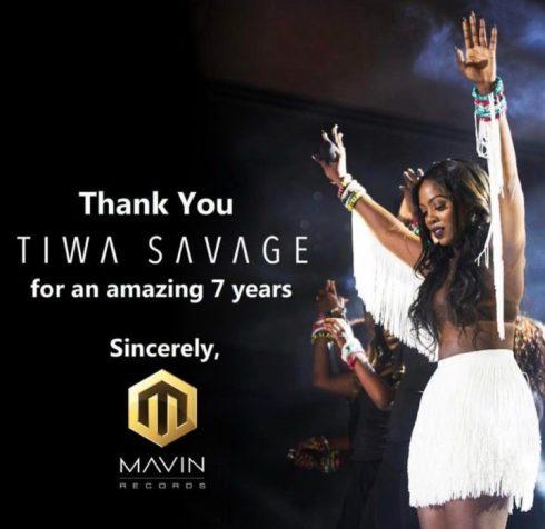 Tiwa Savage Exit Donjazzy's Mavin Records