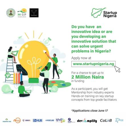 An Opportunity Is Here, Win Upto 2 Million At startupnigeria.ng