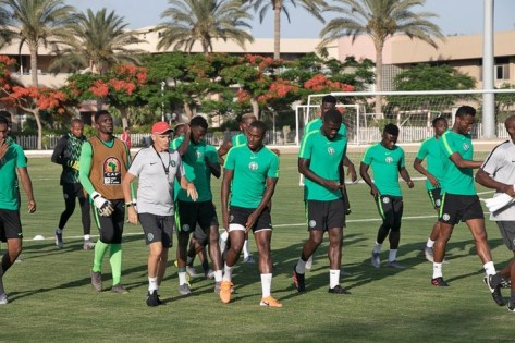 Super Eagles Train Ahead Of Today's Match With Guinea