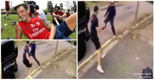The Moment Robbers Were Attacking Mesut Ozil And Kolasinac - CCTV Footage Shows