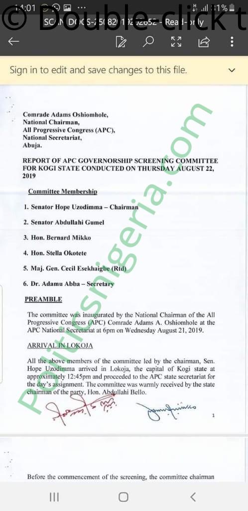 APC Disqualifies 12 Kogi Governorship Aspirants