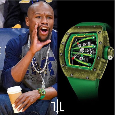 Floyd Mayweather Shows Off Some Of His Expensive Wristwatches, As One Is Worth Over N200m