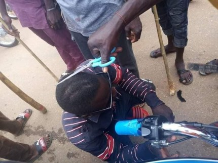 Taskforce Forcefully Shave Young Men's Hair With Scissor