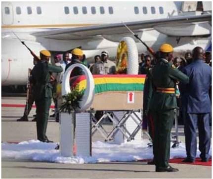 Robert Mugabe's Body Arrives Zimbabwe From Singapore