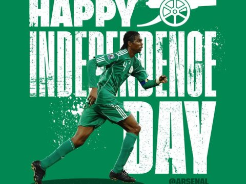 Arsenal Football Club Celebrate Nigeria's 59th Independence Anniversary In Pidgin