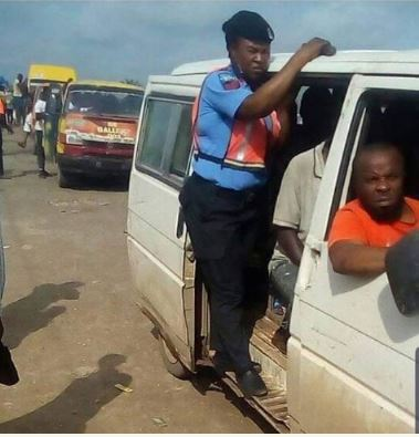 Policewoman 'Turns Conductor' In Lagos