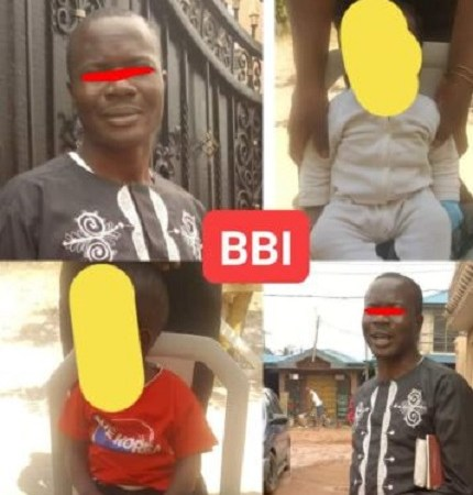 See Photos As Man Is Arrested For Allegedly Defiling Two Of His Children In Abuja