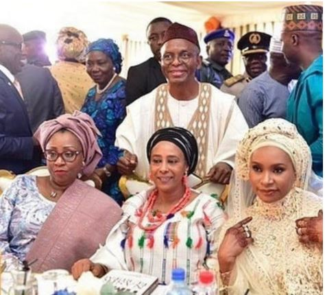 Governor El-Rufai Shows Off His Three Wives