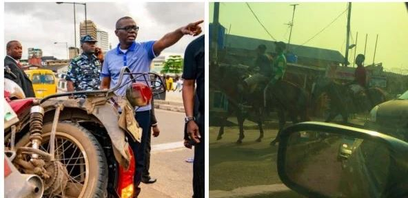 Lagosians Resort To Horse Ride Following Okada Ban