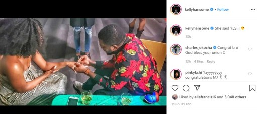 Singer Kelly Hansome Proposes To His Girlfriend