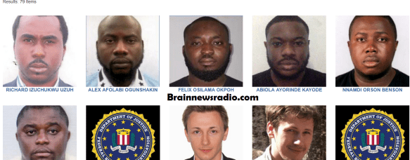 FBI Lists 39 Arabs, 16 Russians, 20 Chinese & 6 Nigerians For $6m Cybercrime