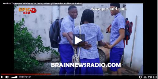 Horny Secondary School Girl Go Threesome With Three Boys