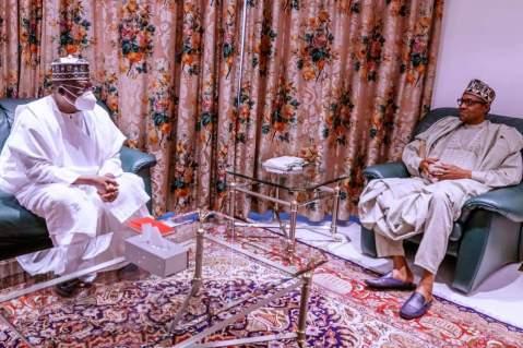 President Buhari, Senate President Meet Over APC Crisis, Insecurity, Others