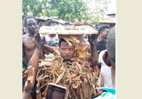 Prophet Caught Burying Charms In Someone's House In Cross River