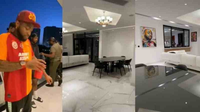 Davido Shows Off Interiors Of His New Banana Island Mansion