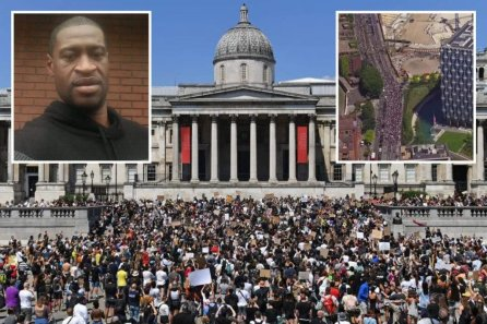 Thousands Protest In UK Over George Floyd's Death