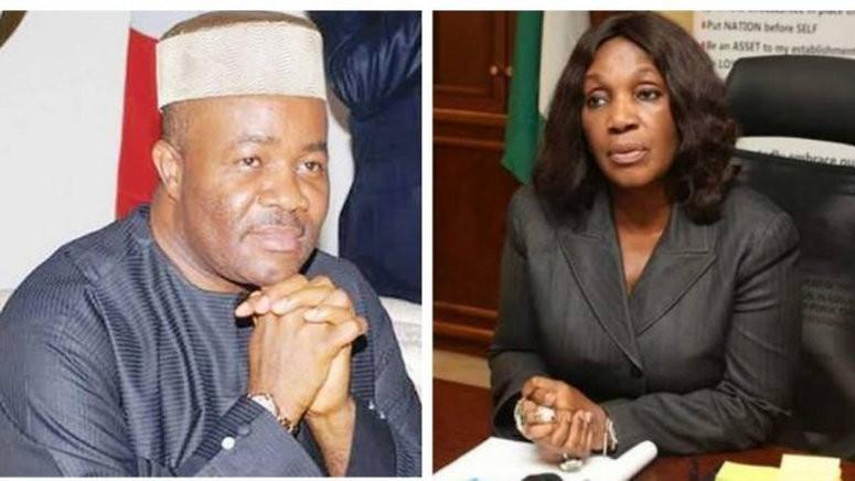 Akpabio Reacts To Joy Nunieh's Corruption Allegations