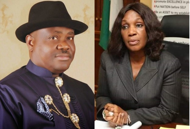 Governor Nyesom Wike And Joy Numieh