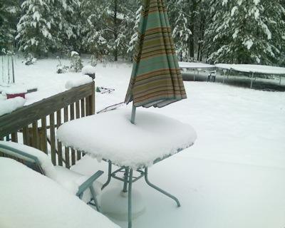 Snow.  In April.