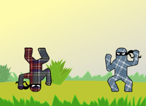 Tiny Plaid Ninjas