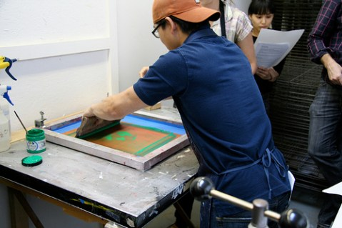 Brooklyn Skillshare screenprinting