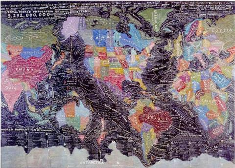 Experimental cartography the map as art brain pickings paula scher the world gumiabroncs Choice Image