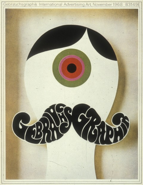 idea 83 psychedelia gebrauchsgraphik 1968 the youth style influenced by drugs and rock and roll quickly became a commercial visual vocabulary - Graphic Design Ideas