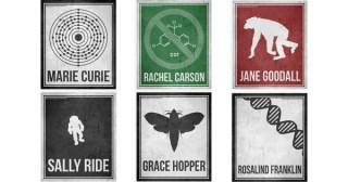 Minimalist Posters Celebrating Six Pioneering Women in Science