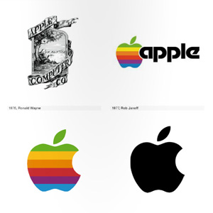 Logo life the visual evolution of 100 iconic logos for Apple 300 dollar book