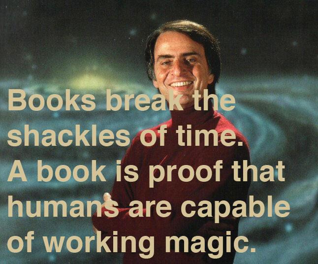 Carl Sagan on Books