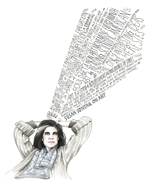 susan sontag on art illustrated diary excerpts brain pickings