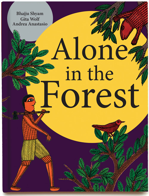 Alone in the Forest: Exploring Fear & Courage in Stunning Illustrations Based on Indian Folk Art