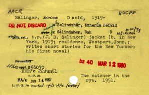 Vintage Catalog Cards for Literary Classics from the Semi-Secret Archive of the Library of Congress