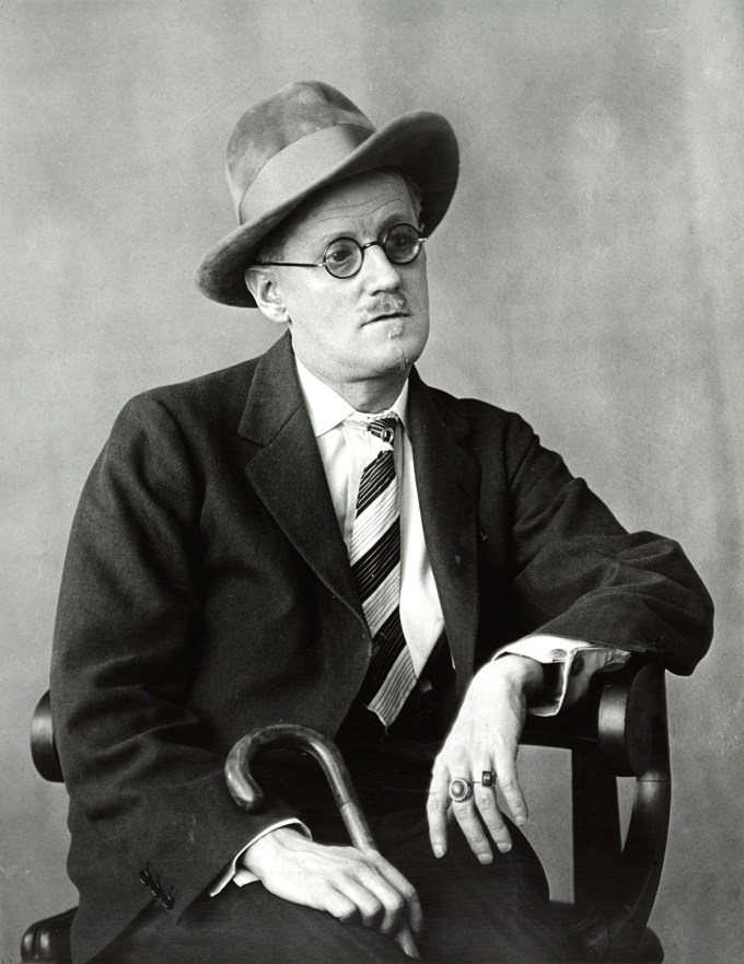 James Joyce by pioneering photographer Berenice Abbott