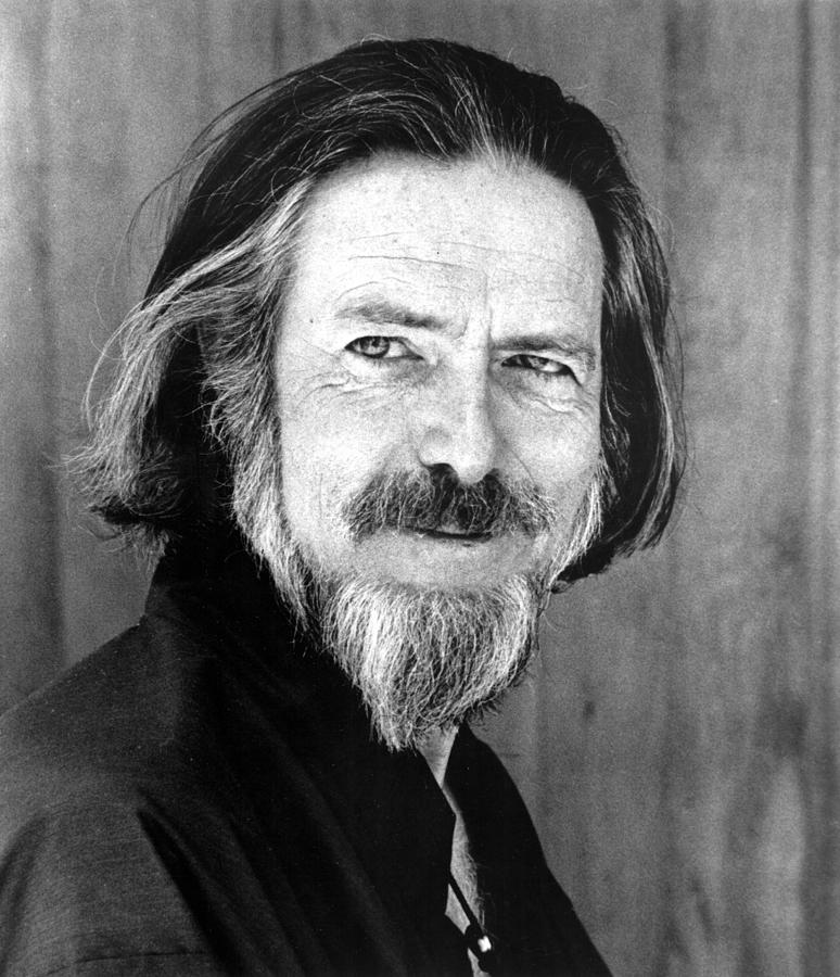 Image of Alan Watts during the 1960's, when he had his famous goatee & long hair