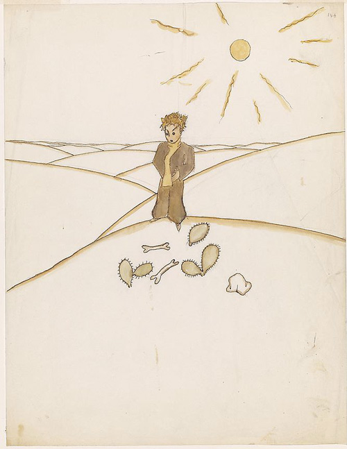 desert solitaire an uncommonly beautiful love letter to solitude one of antoine de saint exupatildecopyry s original watercolors for the little prince click image for more