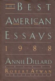 "annie dillard on the art of the essay and narrative nonfiction vs  ""only a person who is congenitally self centered has the effrontery and the stamina to write essays "" e b white remarked in his reflection on the art of"