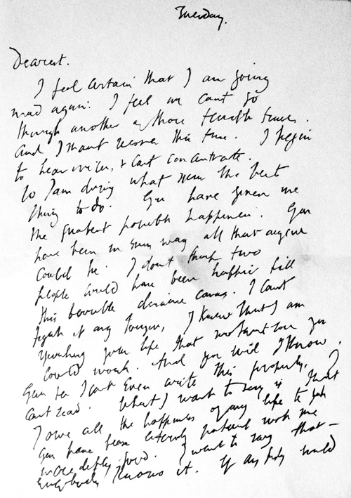March 28, 1941: Virginia Woolf's Suicide Letter and Its Cruel Misinterpretation in the Media – Brain Pickings