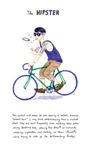 An Illustrated Taxonomy of City Bikes and Cyclist Archetypes