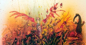 "Ralph Steadman's Rare and Rapturous Illustrations for Ray Bradbury's ""Fahrenheit 451"""