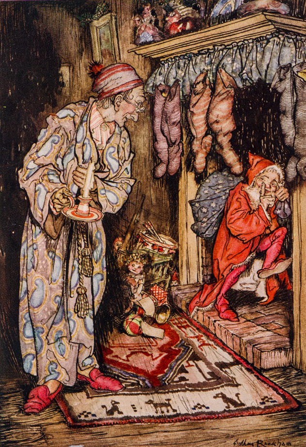 "Art by Arthur Rackman for ""'Twas the Night Before Christmas"" courtesy of The New York Public Library Digital Collections"