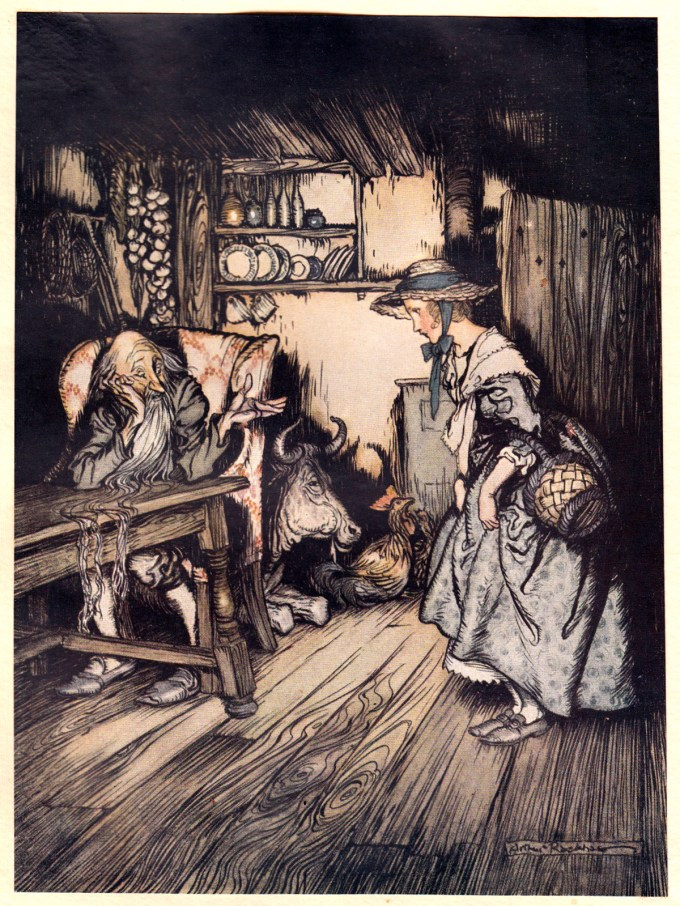 """The Hut in the Forest: """"She begged quite prettily to be allowed to spend the night there."""""""
