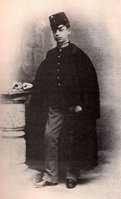Young Rilke at the Sankt-Pölten military academy