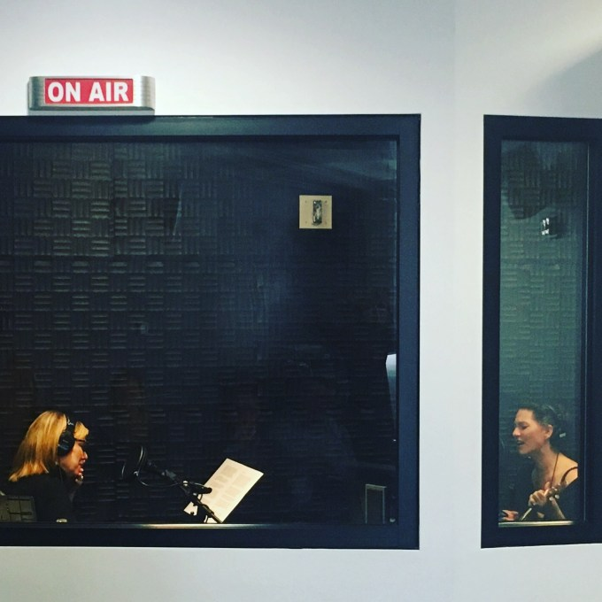 "What art does to and for us: Amanda Palmer performs ""Bigger on the Inside"" at the Design Matters recording studio as host Debbie Millman cries. (Photograph: Maria Popova)"