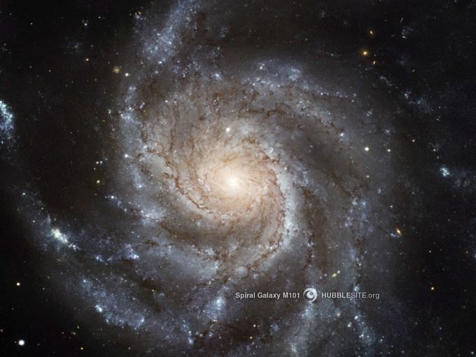 Spiral Galaxy M101 (Image credit: NASA / Hubble Space Telescope)
