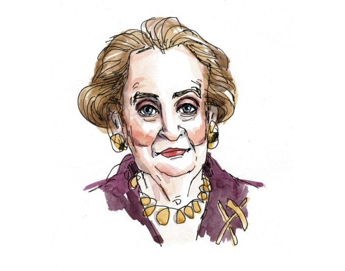 Madeleine Albright by Wendy MacNaughton