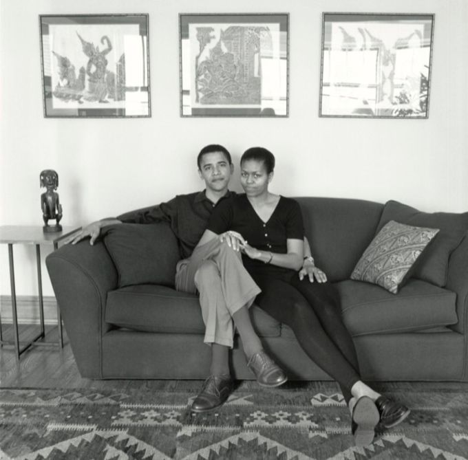 Barack and Michelle Obama, 1996 (Photograph:  Mariana Cook)