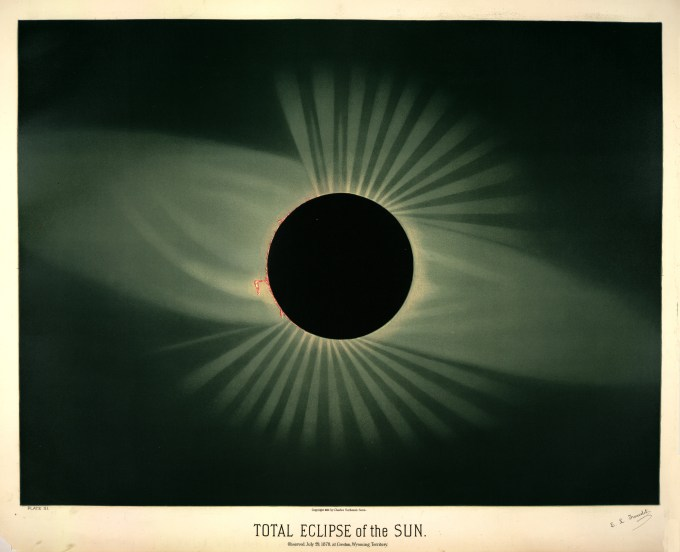 Total eclipse of the sun, observed July 29, 1878, at Creston, Wyoming Territory